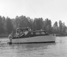 Rodgers Jenkins first boat, the Kitti K in 1957